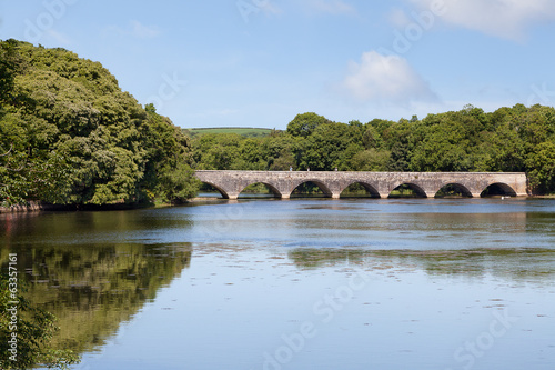 Eight arch bridge over Bosherston lakes