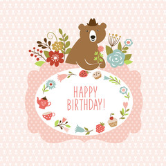 cute Bear, greeting card