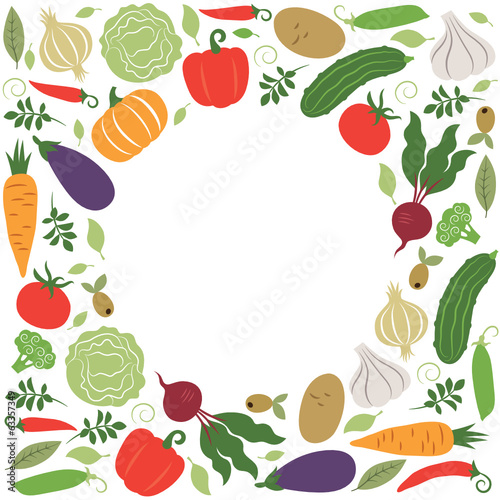 vector vegetables , place for your text