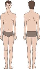 Vector illustration of male fashion figure