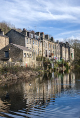 Yorkshire canal side houses