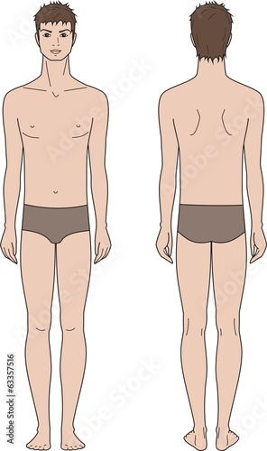 Vector illustration of male fashion figure