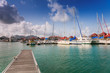 Pier at Eden Island, Seychelles