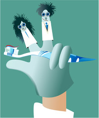 Dental glove puppets