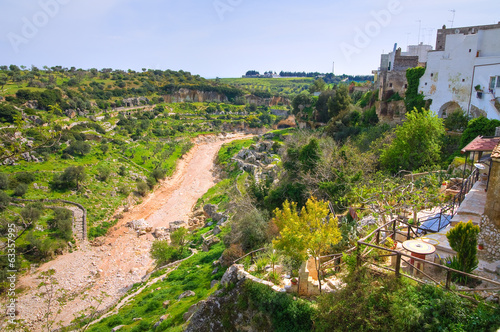 Panoramic view of Ginosa. Puglia. Italy.