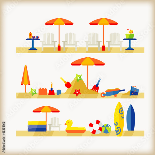 vector of beach