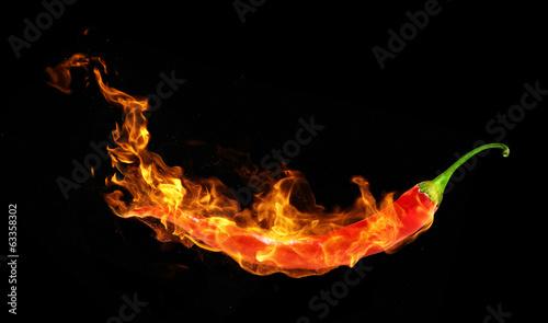 Papier chili w ogniu