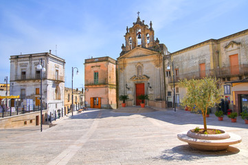 Church of St. Rocco. Montescaglioso. Basilicata. Italy.