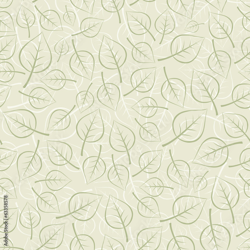 Vector seamless background. Leafs.