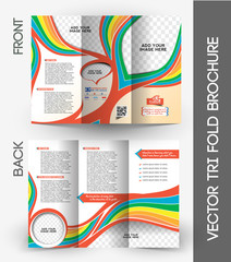 Kid's School Tri-Fold Mock up & Brochure Design