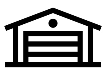 Garage vector icon