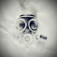 gas mask paper texture