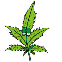 marijuana, vector illustration