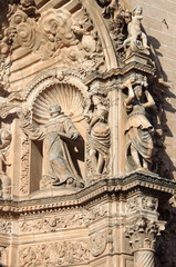 Basreliefs in St. Francis of Assisi in Palma de Mallorca