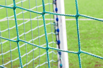 soccer goal post and net