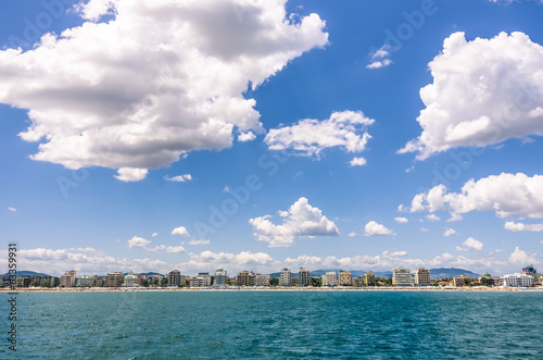 Italian Riviera skyline - Hotels from the sea in Rimini