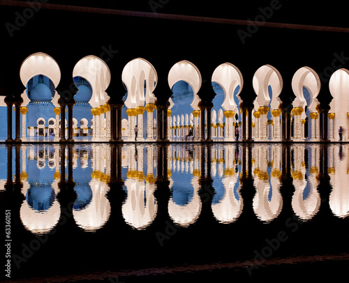 Sheikh Zayed mosque in Abu Dhabi, United Arab Emirates,