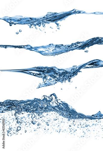Leinwandbild Motiv water wave set