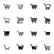 Vector black  shopping cart  icons set - 63360383
