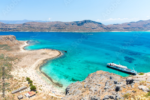 Gramvousa island near Crete, Greece. Balos beach.