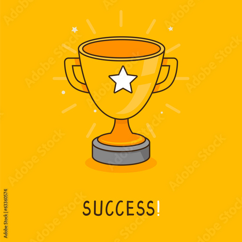 Vector success concept in flat style