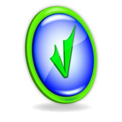 Icono verde y azul ok
