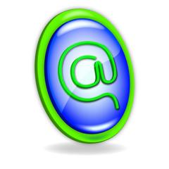 Icono verde y azul Arroba