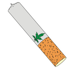 marijuana, vector illustration