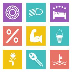 Color icons for Web Design set 34