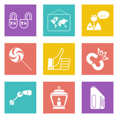 Color icons for Web Design set 35
