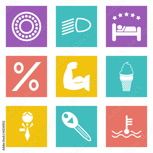 Color icons for Web Design set 34