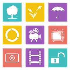 Color icons for Web Design set 44