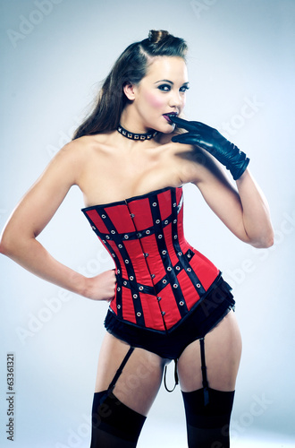 Portrait Of Sensuous Fashion Model In Corset