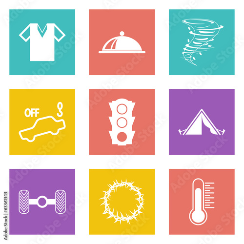 Color icons for Web Design set 43