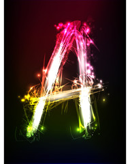 neon alphabet, part of collection