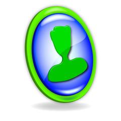 Icono verde y azul Hombre