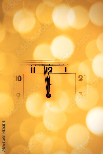 Look at the clock a little before midnight - New Year