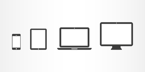 Device icons: smartphone, tablet, laptop and desktop computer