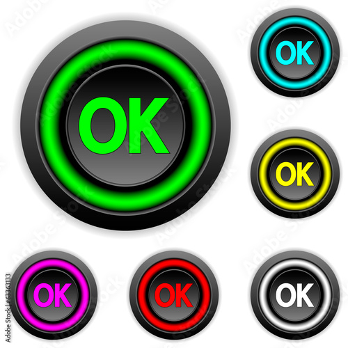 Ok buttons set