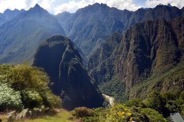 Vista del Urubamba desde el Machupicchu