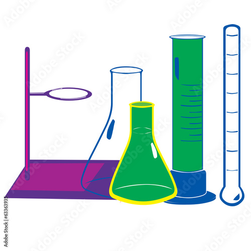Illustration of Laboratory equipment