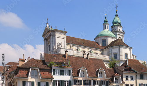 Solothurn cityscape with St. Ursus Cathedral