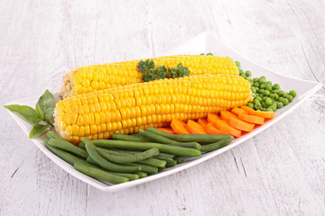 corn and vegetable