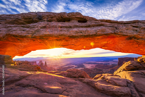 Poster Natuur Park Mesa Arch at Sunrise