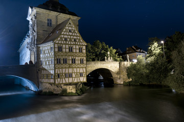 Old Town Hall in Bamberg by night