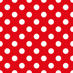 Fabric With Polka Dots Seamless Texture