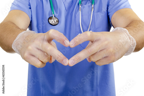 Finger doctor heart.