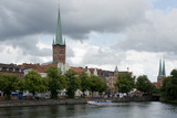 Townscape of Lubeck poster