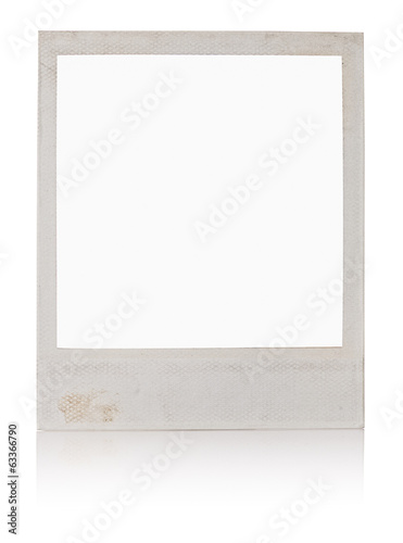 Old white instant photo frame