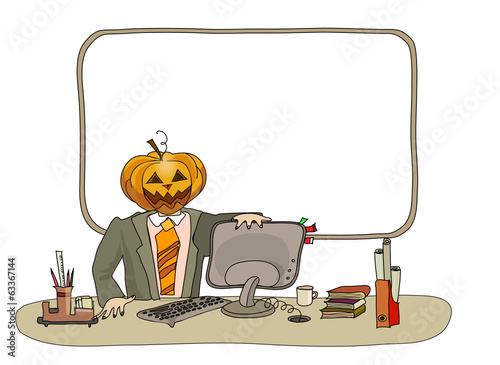 Halloween and office people